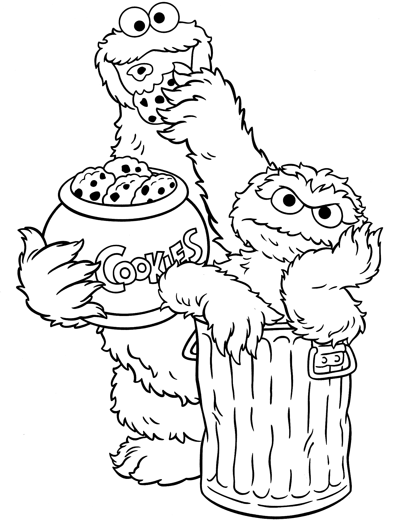 Coloring Pages Sesame Street Characters