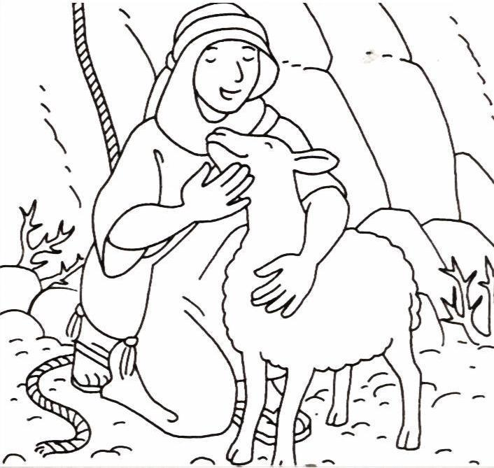 Sheep Coloring Page Cute