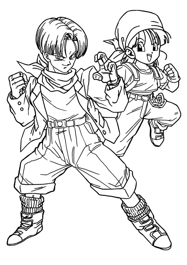Dragon Ball Z Goku Coloring Page Trunks Pages