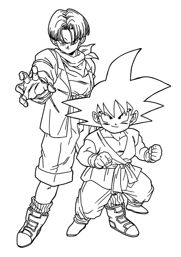 Dragon ball z coloring pages 360coloringpages for Dragon ball z goku coloring pages