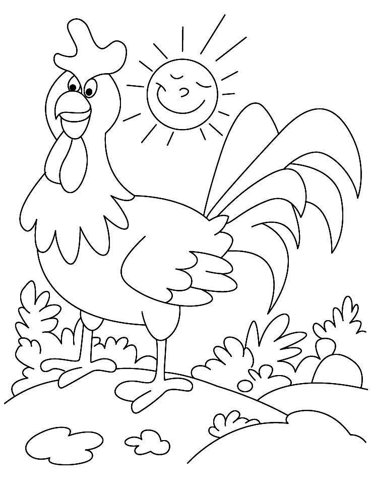 Farm Animal Coloring Picture