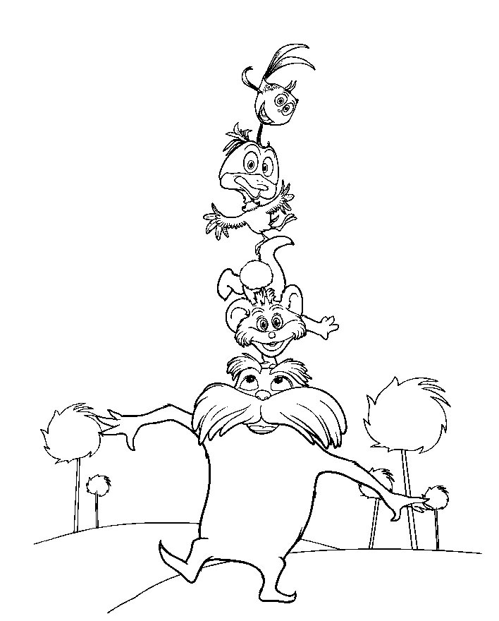 Lorax Coloring Pages Free