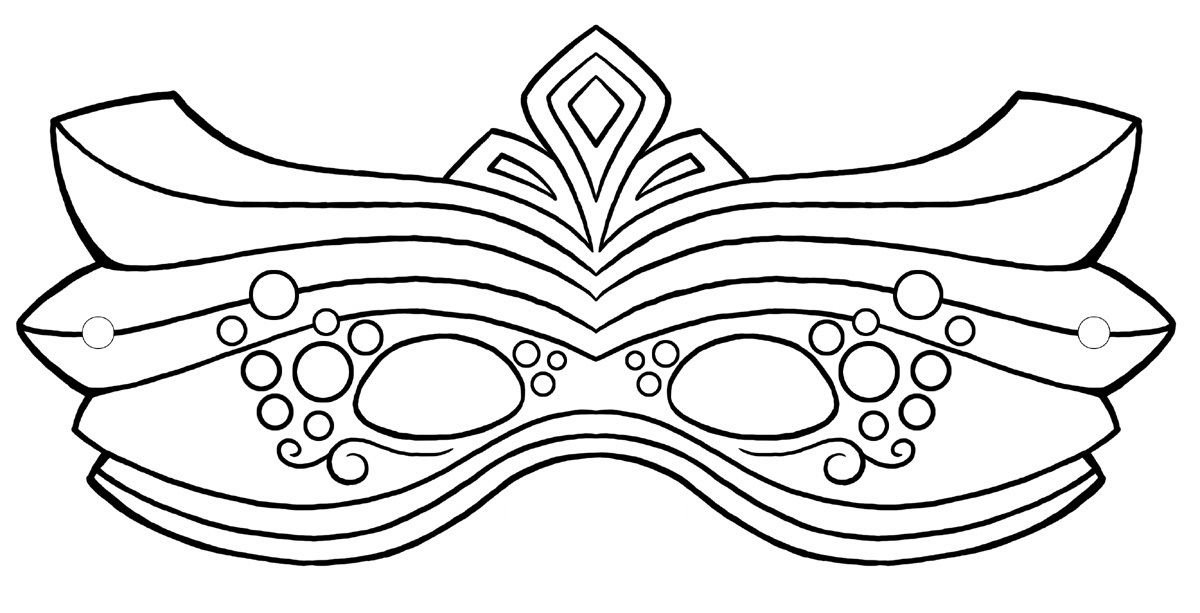 Mask Coloring Pages Free