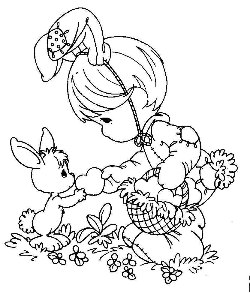 Free Precious Moments Coloring Page