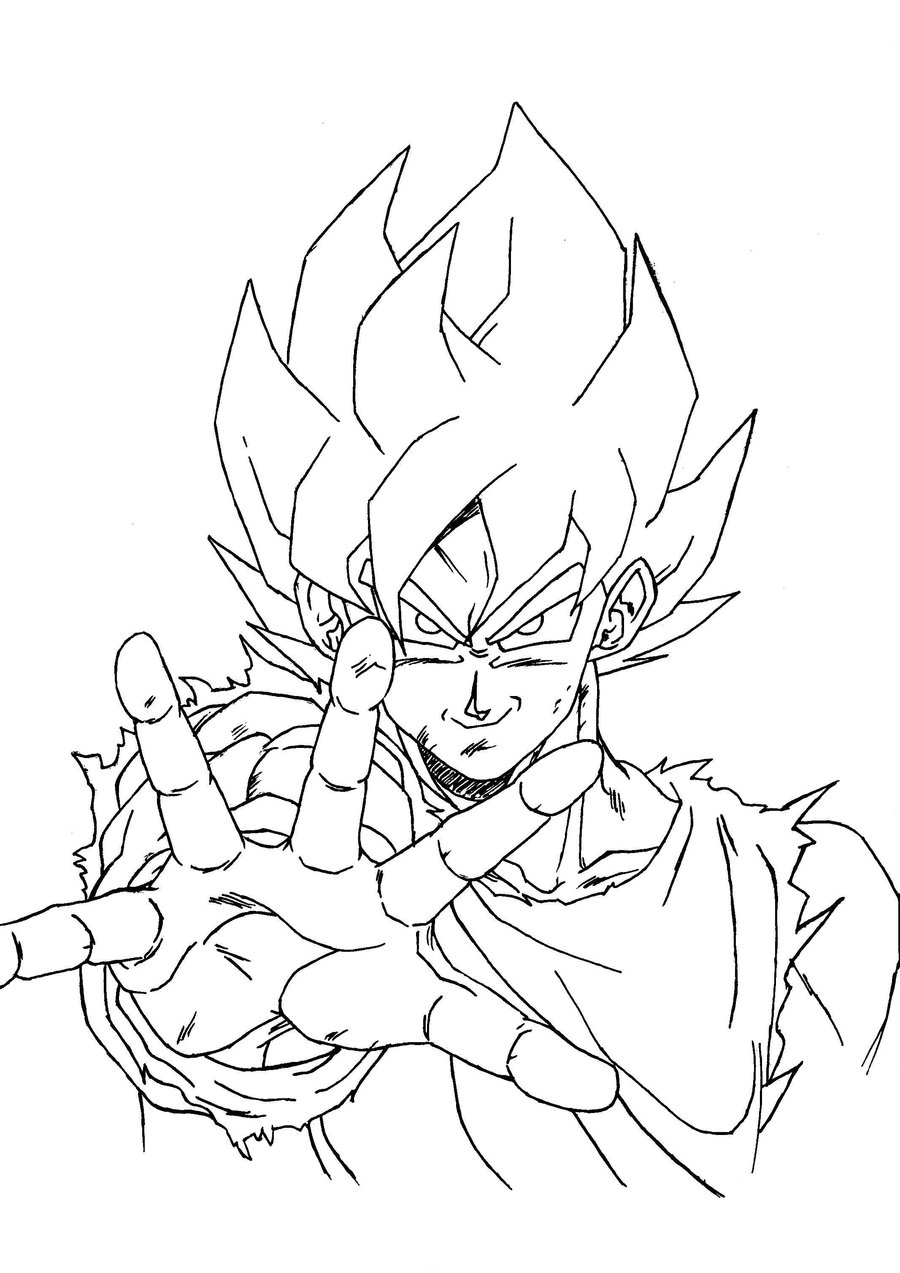 Dragon Ball Z Coloring Pages Free Printable