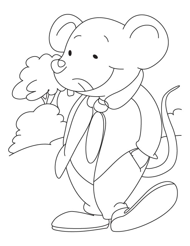 Mouse Coloring Pages Free Printable