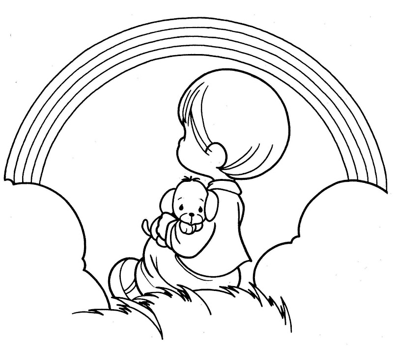 Free Printable Precious Moments Coloring Page