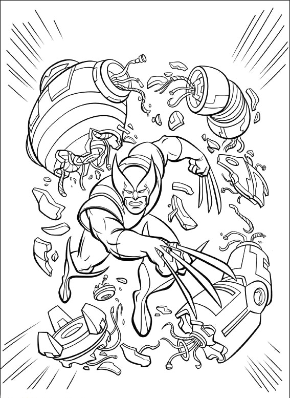 Wolverine Coloring Pages 360ColoringPages