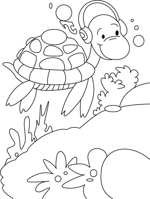 Free Sea Turtle Coloring Page