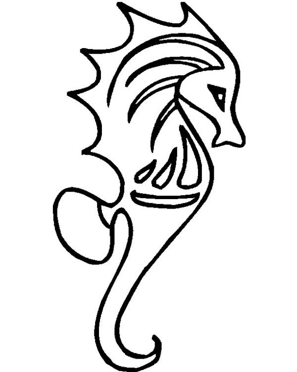 Free Seahorse Coloring Page