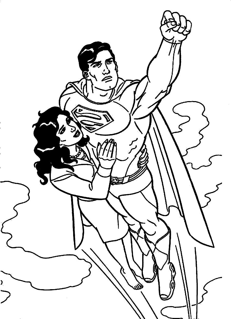It's just an image of Enterprising Superman Coloring Pages Printable