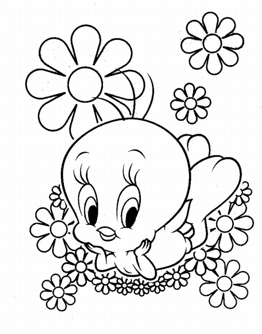Tweety Coloring Pages Free