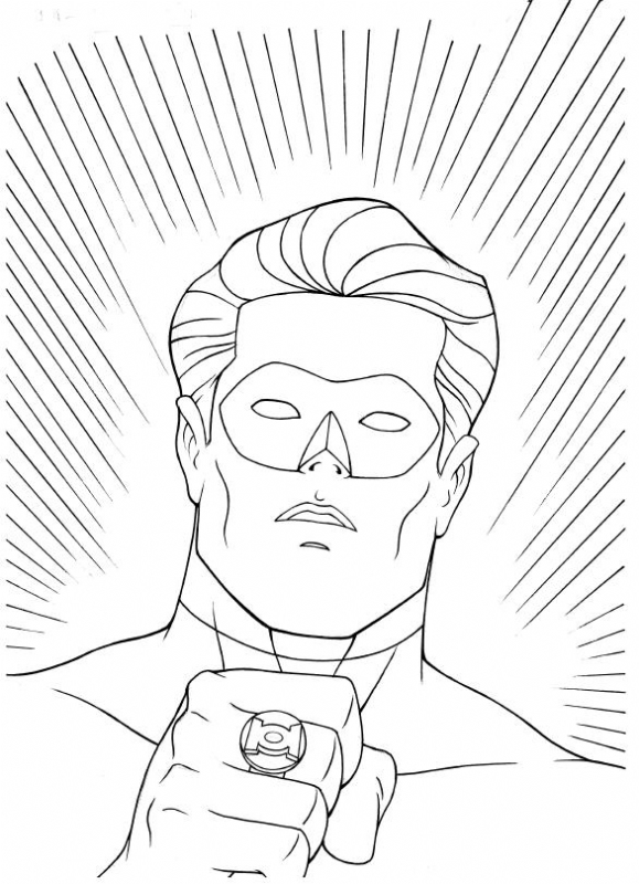 Green Lantern Coloring Pages for Kids to Print