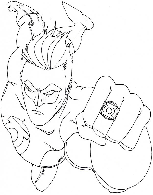Green Lantern Coloring Picture