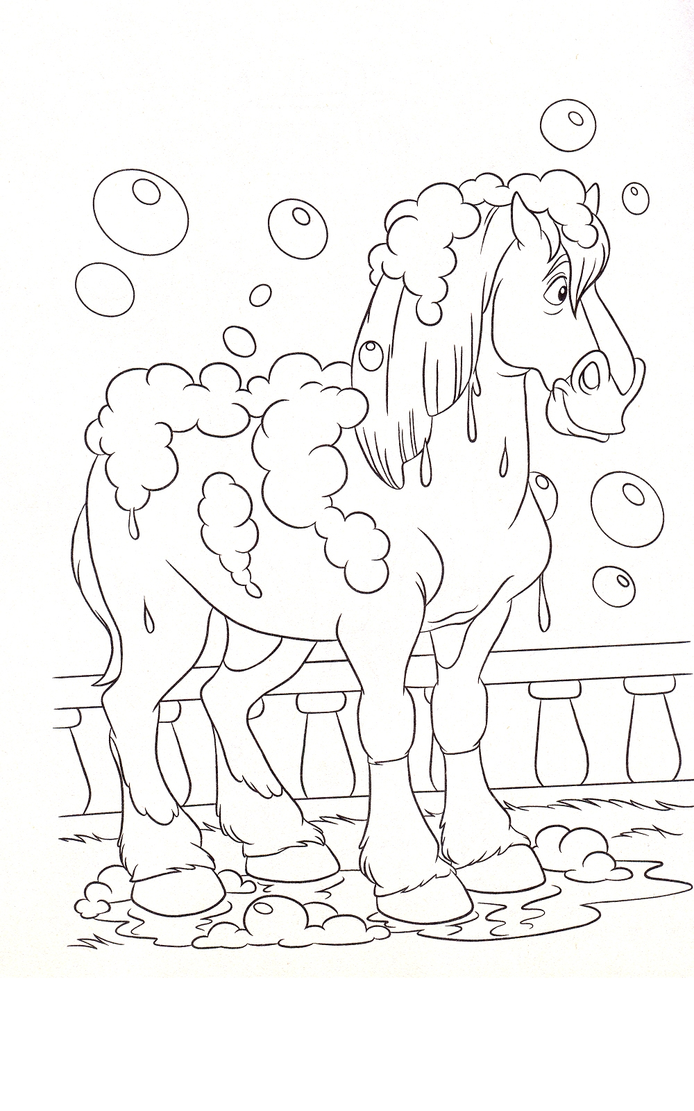 Horse Coloring Picture