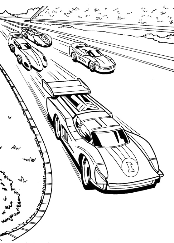 Hot Wheels Coloring Pages Battle Force 5
