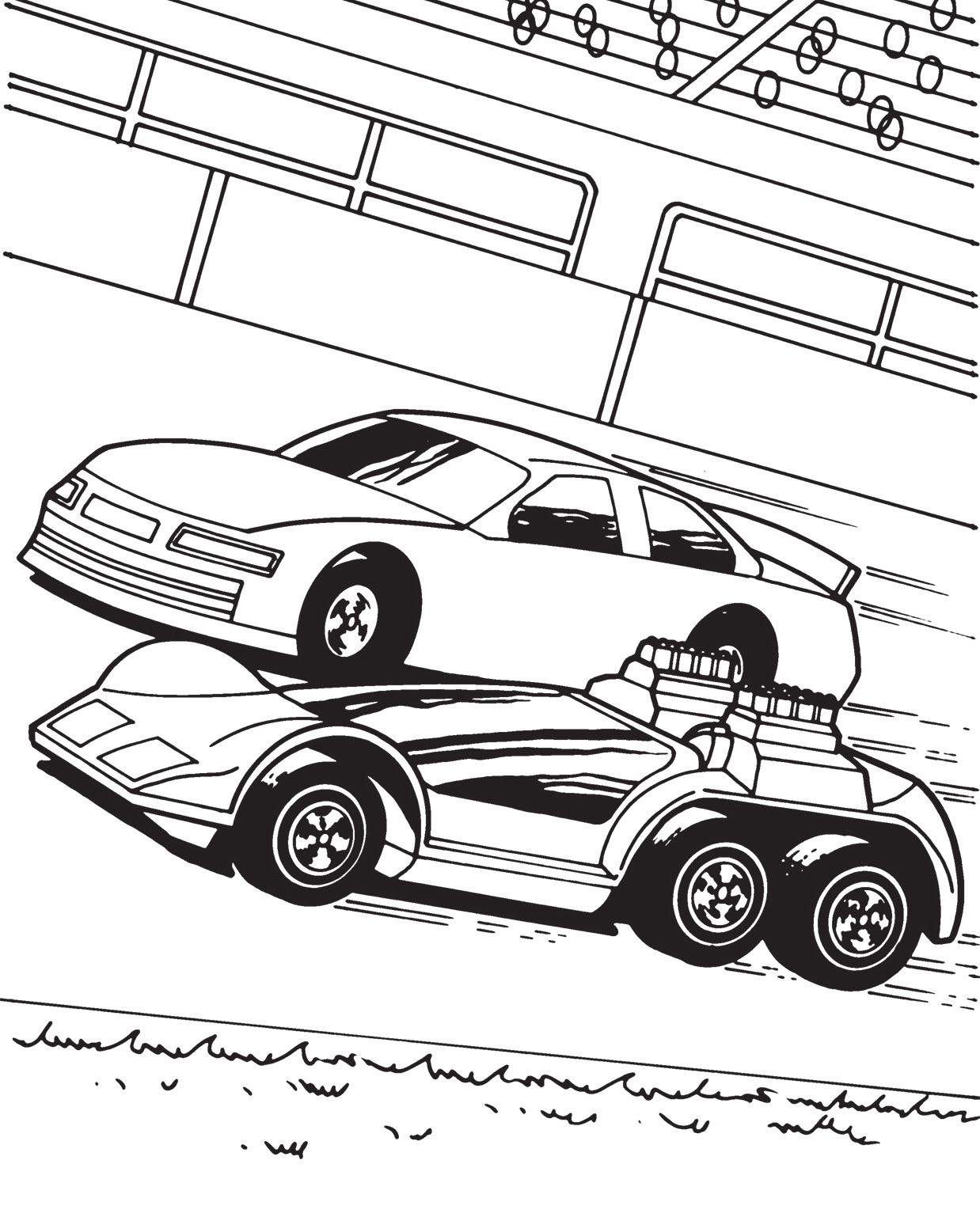 Hot wheels coloring pages 360coloringpages for Coloring pages of cars to print