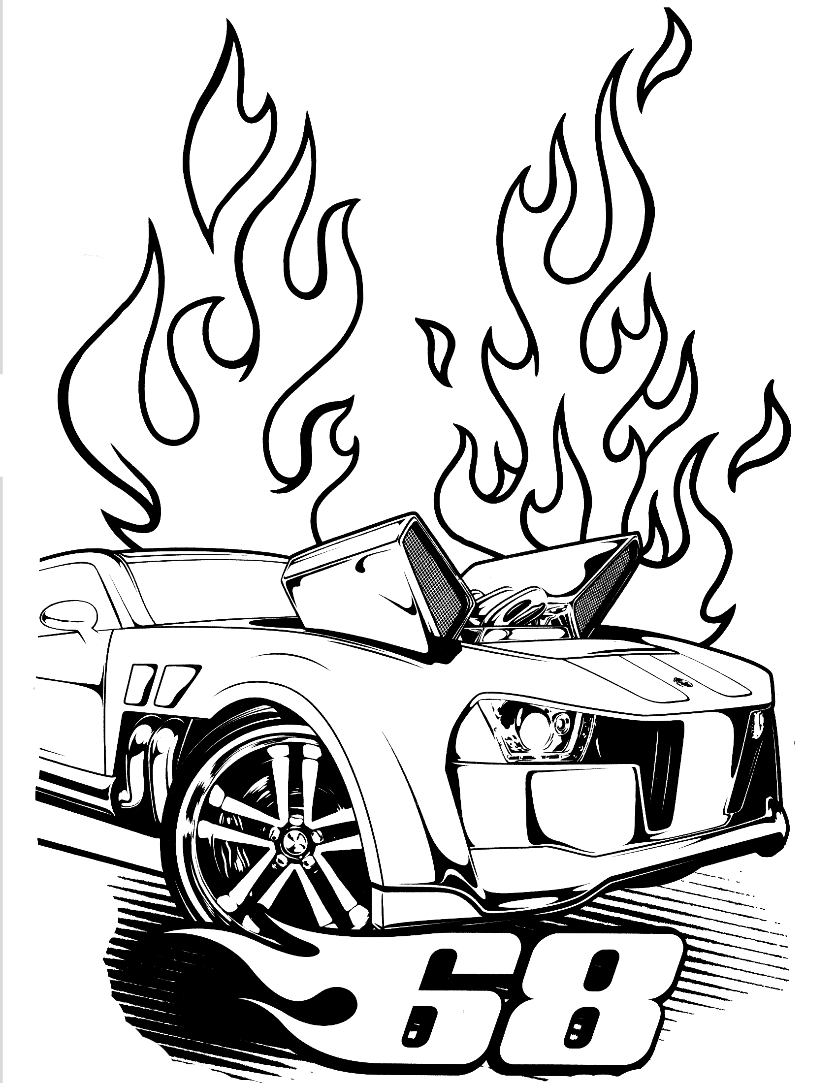 Hot Wheels Coloring Sheet
