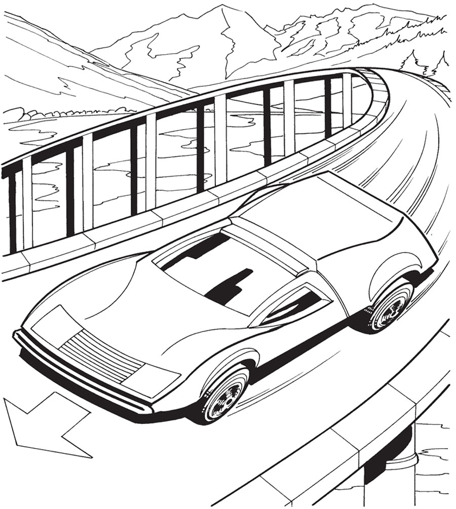 Hot Wheels Track Coloring Page