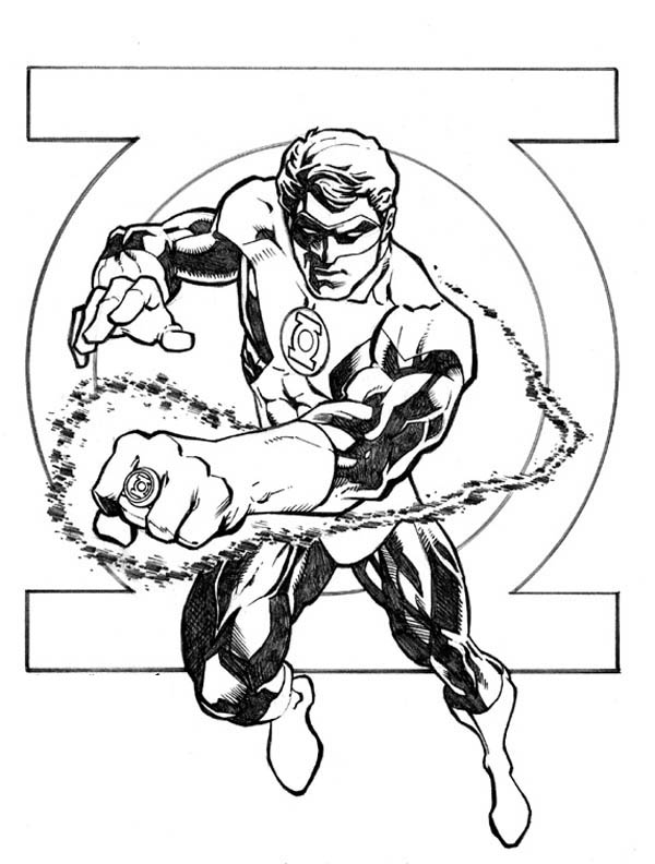 Green Lantern Coloring Pages | 360ColoringPages