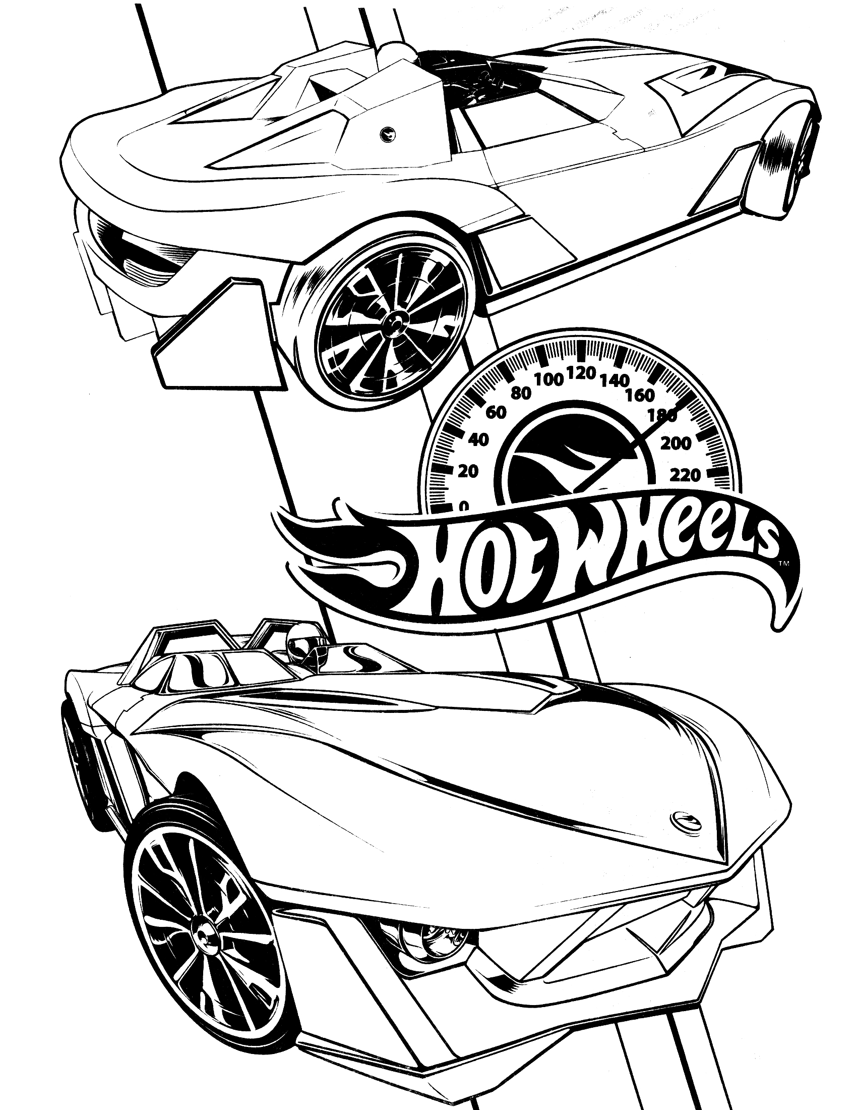 Lego Hot Wheels Coloring Page