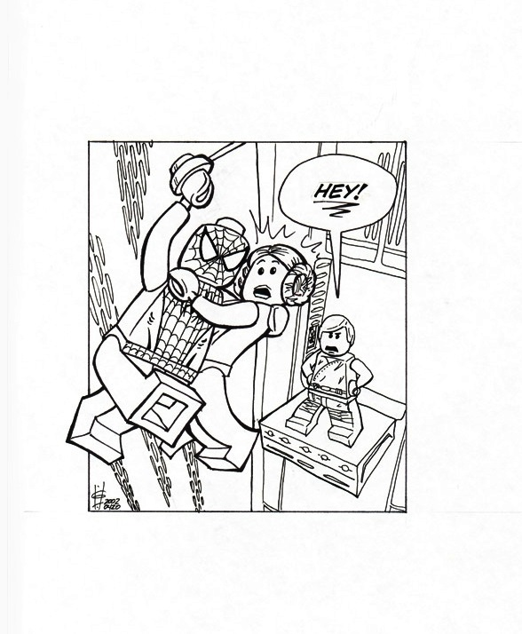 Amazing Spiderman Coloring Page Lego