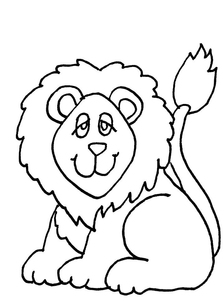 Lion Coloring Page for Toddlers