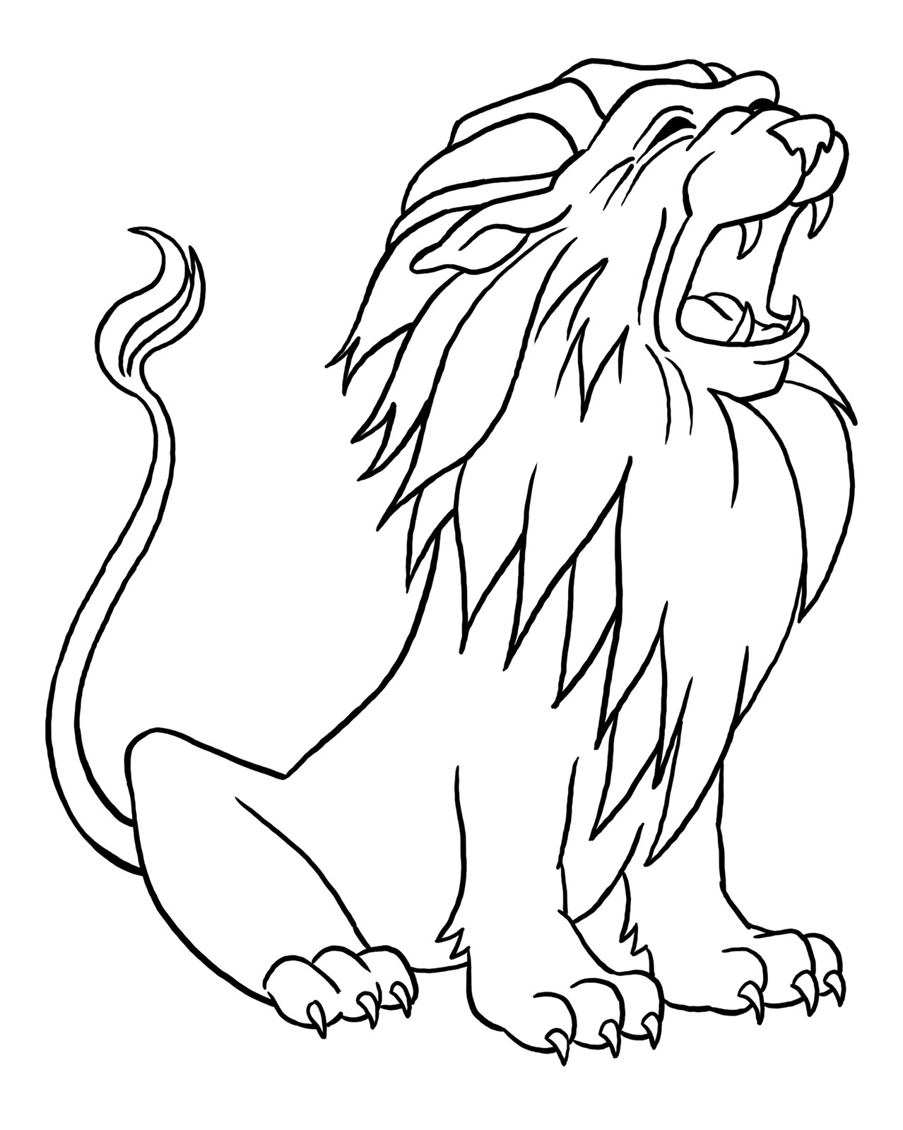 Lion Coloring Sheets to Print