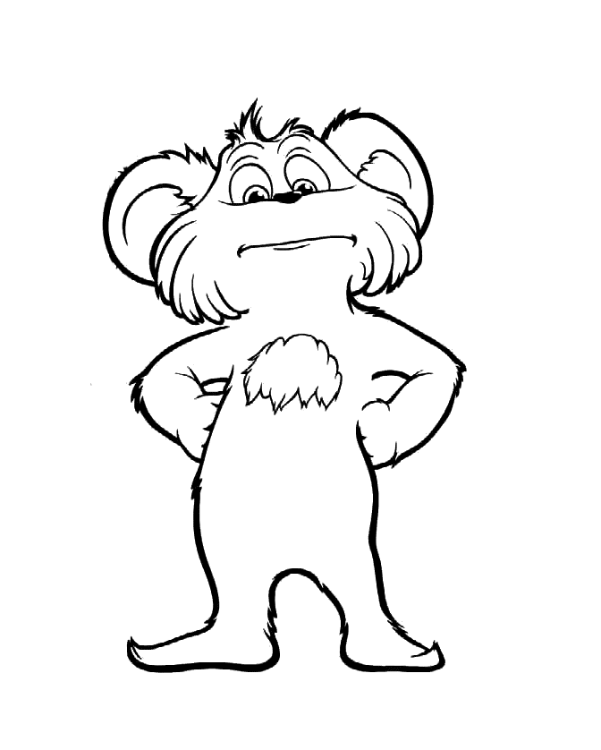 Lorax Coloring Pages Bears