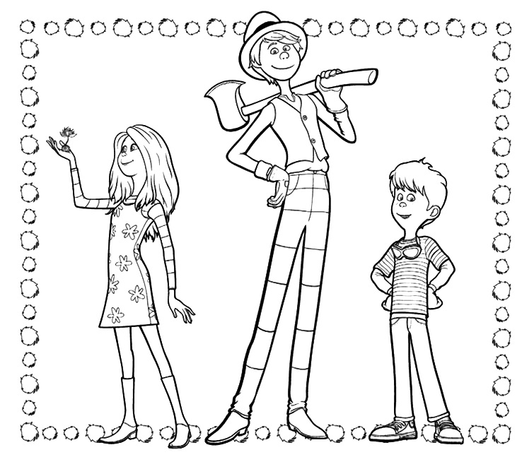 Lorax Characters Coloring Page