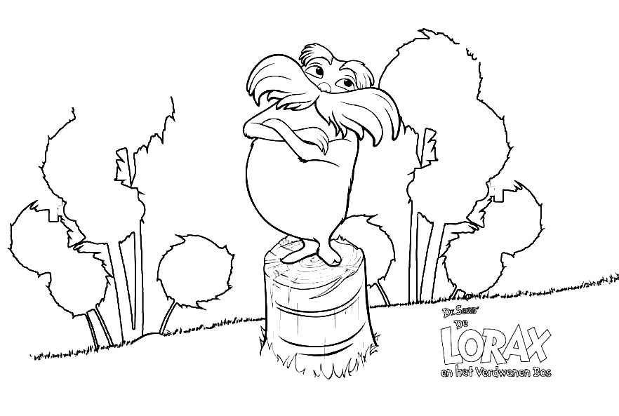 Free Lorax Coloring Pages