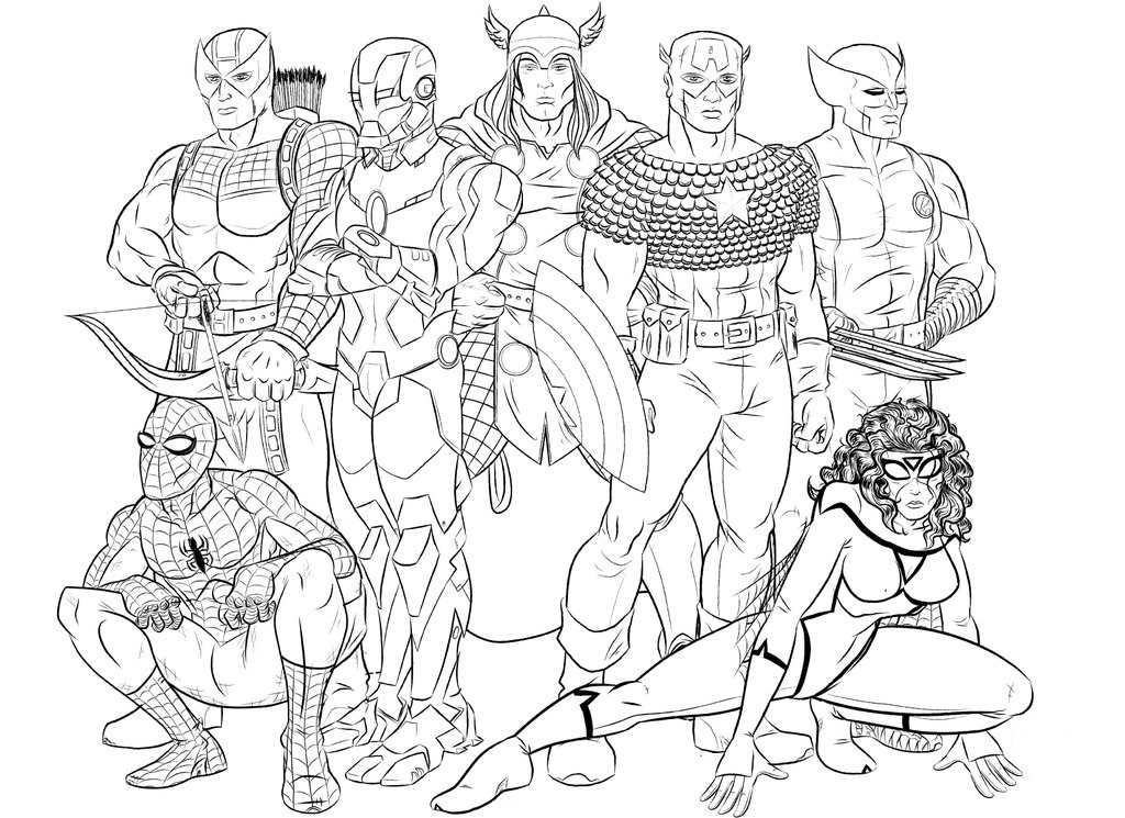 Marvel Avengers Coloring Page