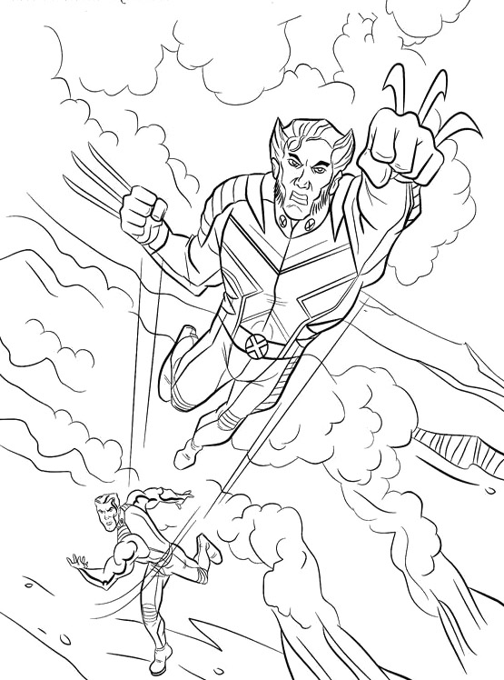 Marvel Wolverine Coloring Page