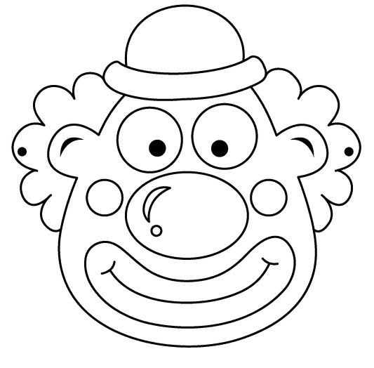 Free Mask Coloring Pages