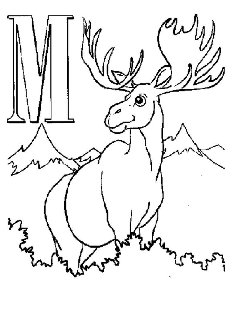 Moose Coloring Picture