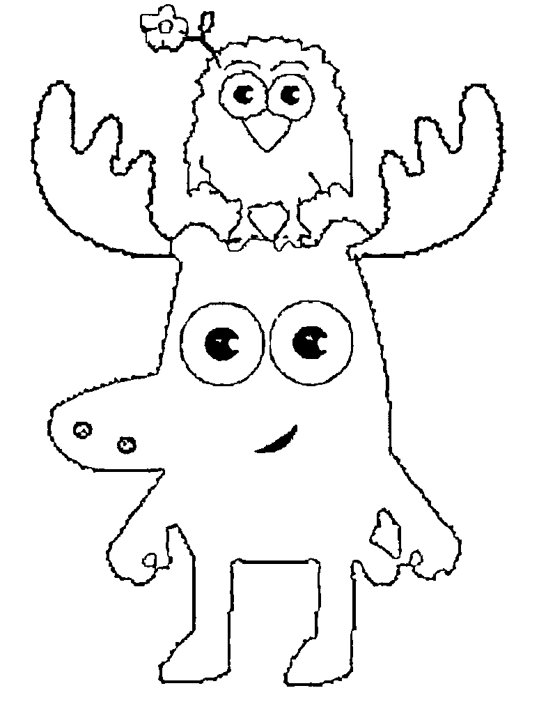free moose coloring page to print moose and zee coloring page