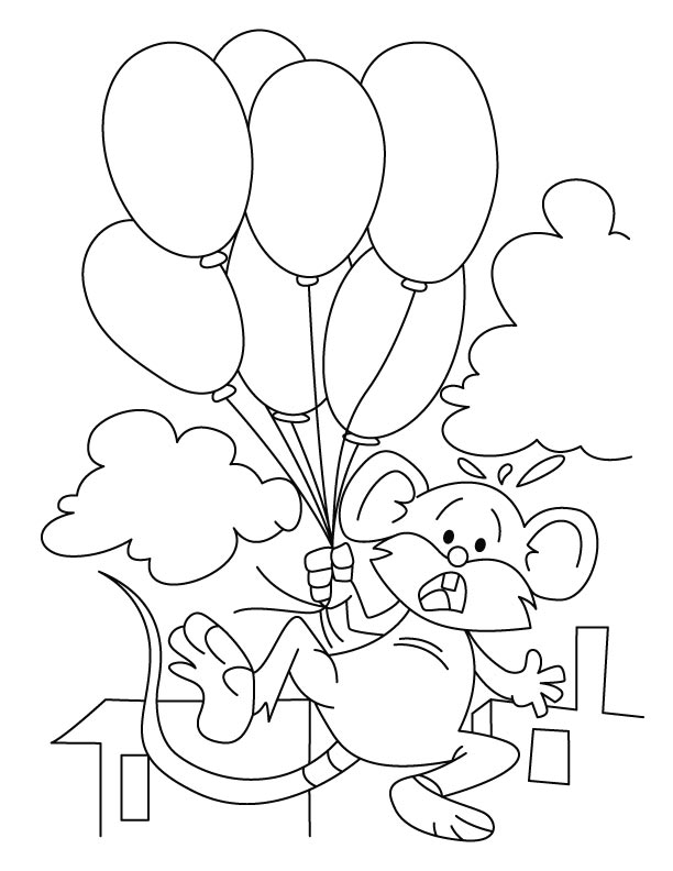 Mouse Coloring Page Free
