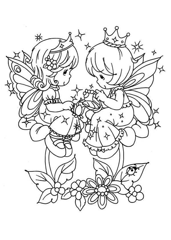 Precious Moments Angels Coloring Page