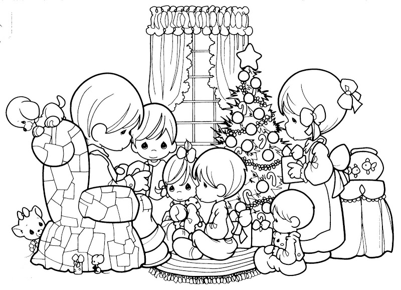 Precious Moments Coloring Pages Christmas