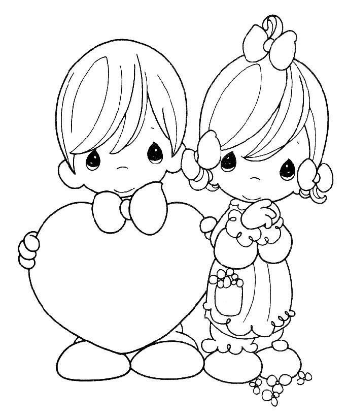 Precious Moments Coloring Sheet