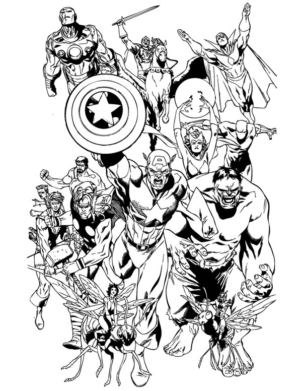 This is a photo of Universal Avengers Coloring Pages Printable
