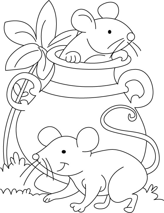 Printable Mouse Coloring Page