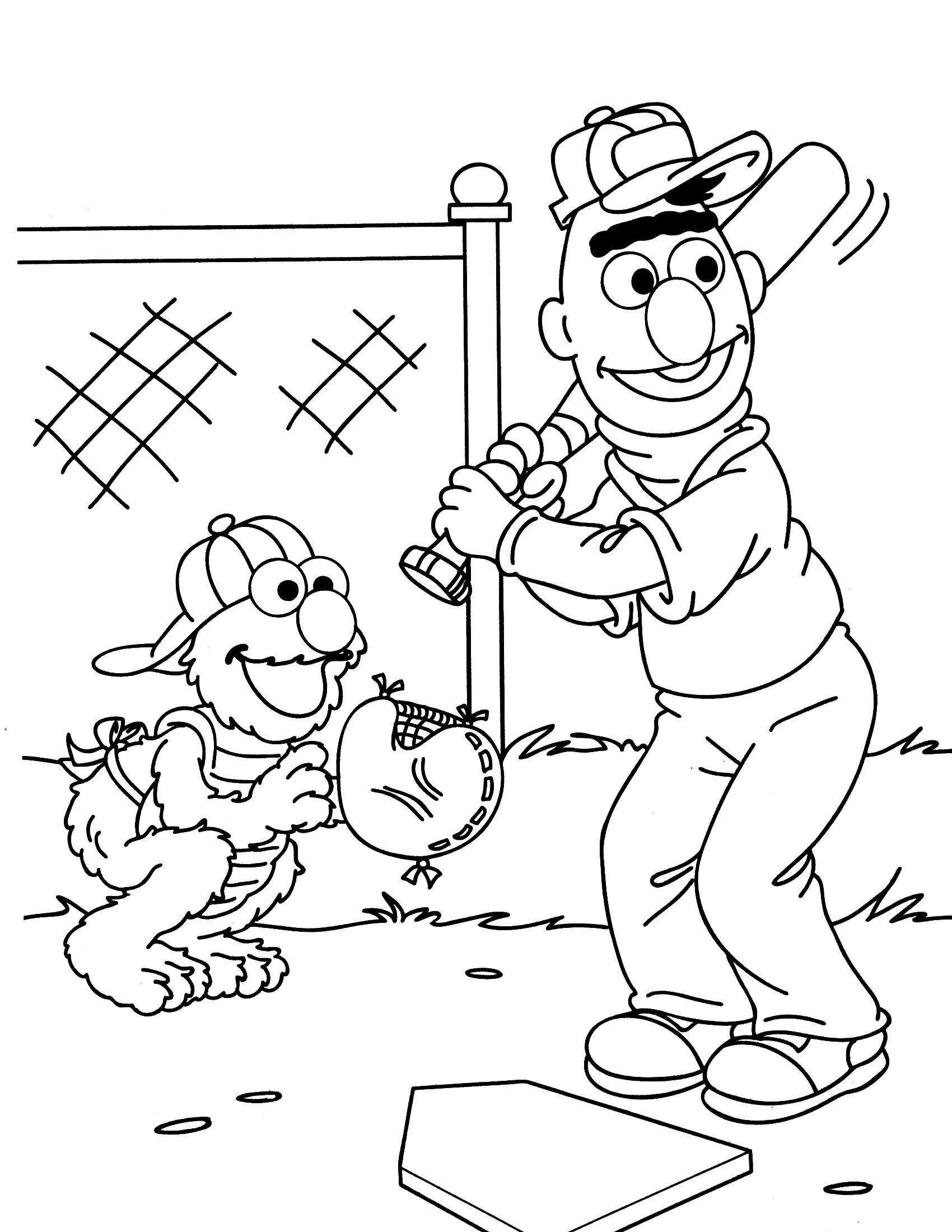 Sesame street coloring pages 360coloringpages for Sesame street color pages