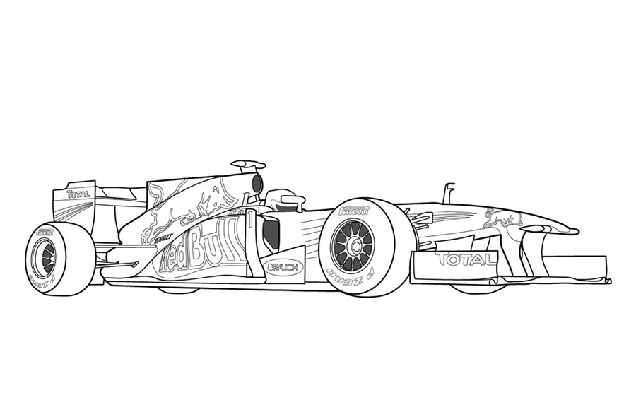 Race Car Track Coloring Page Picture