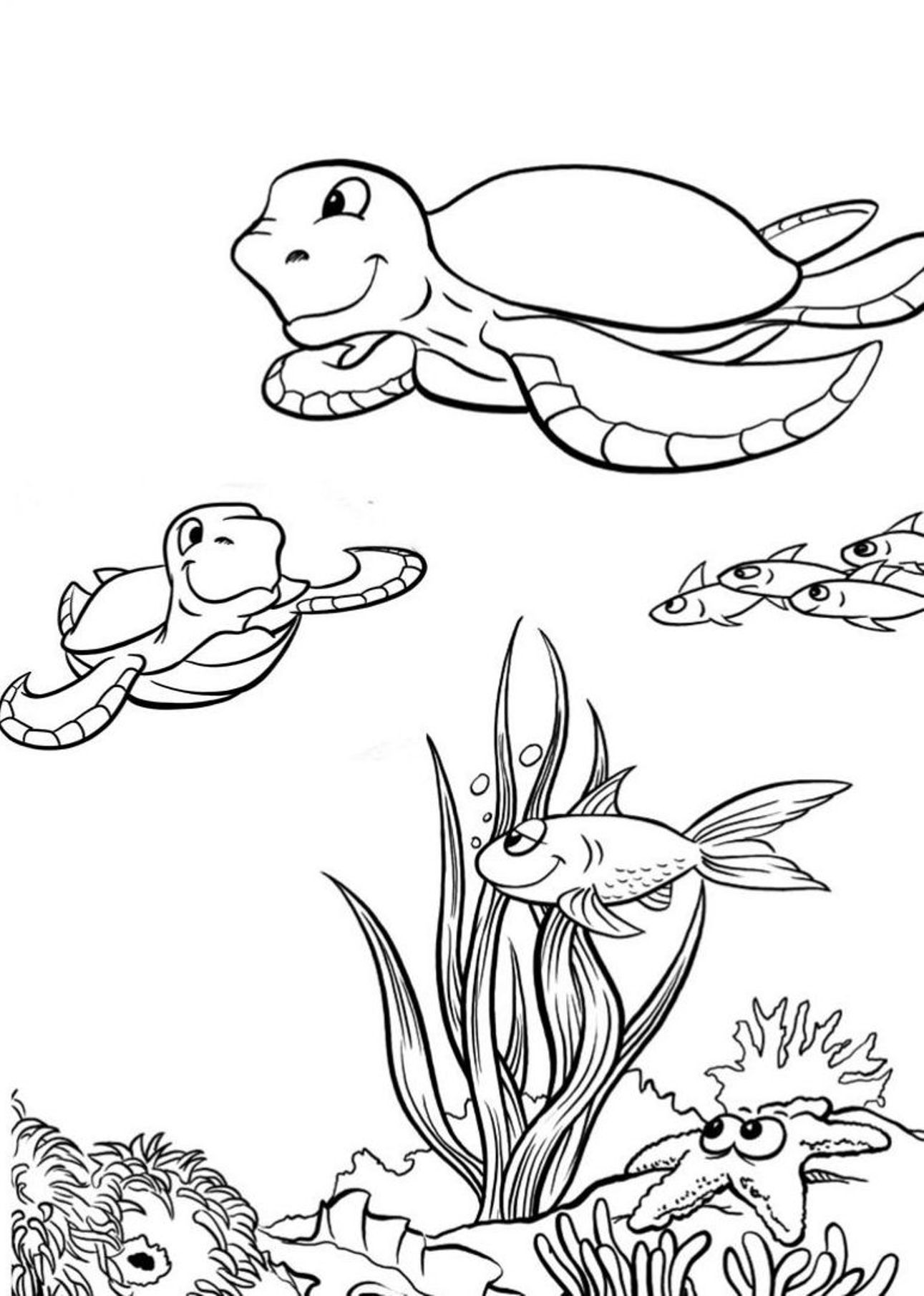 Sea turtle coloring pages 360coloringpages for Turtle coloring pages