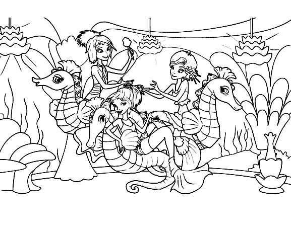 Seahorse Coloring Page - Art Starts for Kids | 465x577
