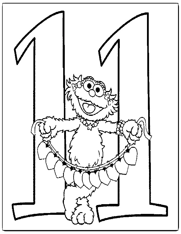 Sesame Street Numbers Coloring Pages