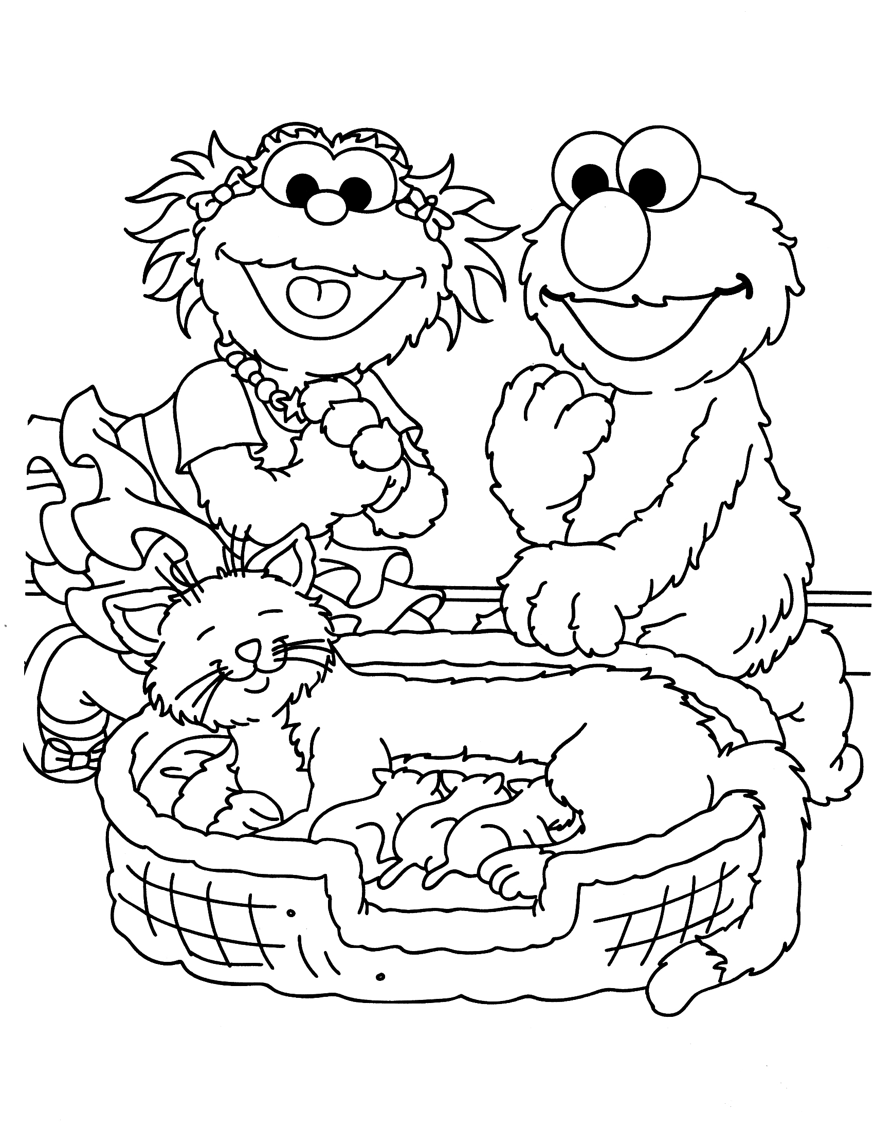 seasme street coloring pages - photo#18