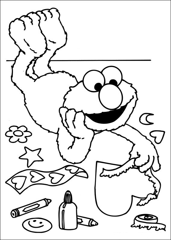 Sesame Street Coloring Sheet