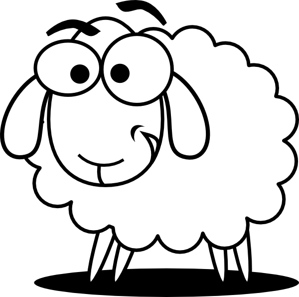 Free Sheep Coloring Pictures